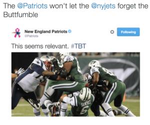 Patriots Twitter  Butt-Fumble