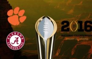 College Football National Championship Odds 2016 - Alabama Crimson Tide versus Clemson Tigers