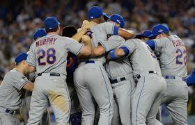 Mets celebrate NLDS victory over Dodgers