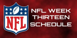 2015 NFL Week 13 Odds and Schedule