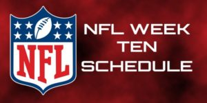 NFL Week 10 Schedule and Odds