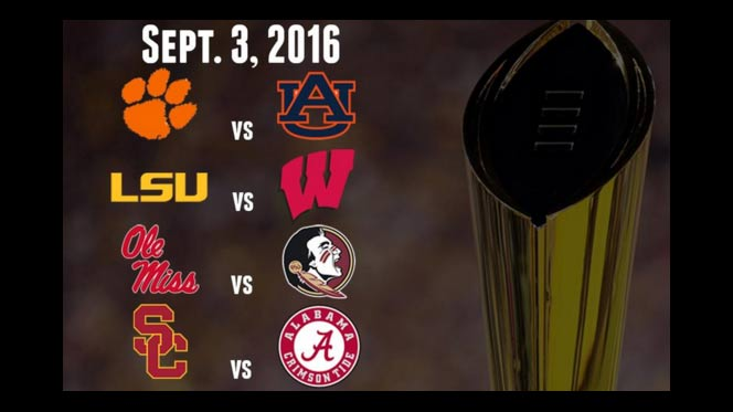 2016 College Football Week 1 Free Picks and odds