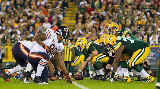 Green Bay Packers vs. Chicago Bears Legal betting sites odds