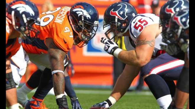 Houston Texans vs. Denver Broncos Monday Night Football Odds