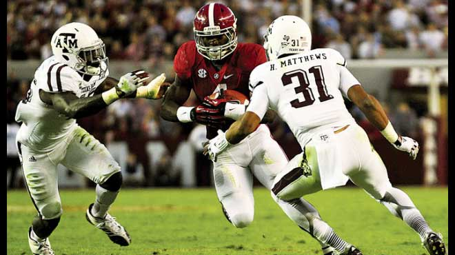 Alabama Crimson Tide Massive Favorites against Texas A&M Aggies