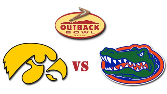 Outback Bowl Odds 2017 - NCAA Florida Vs Iowa Prediction