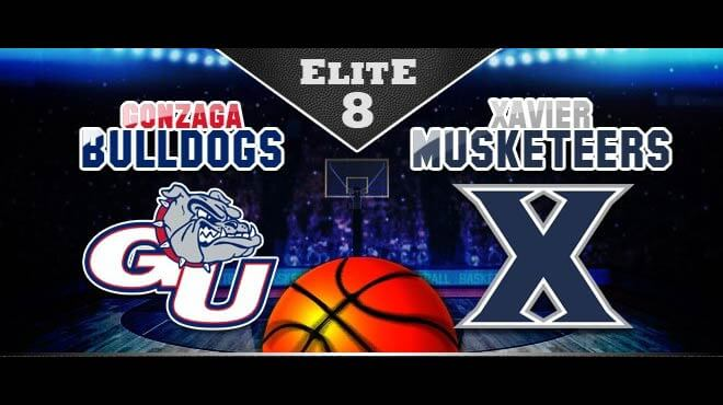 Gonzaga Bulldogs vs. Xavier Musketeers Elite Eight Odds