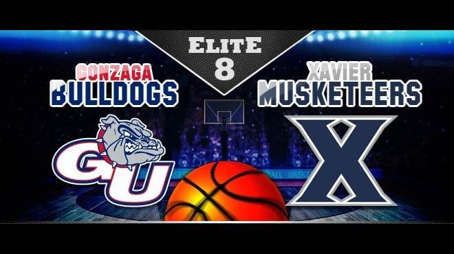Gonzaga Bulldogs vs. Xavier Musketeers Elite Eight Odds