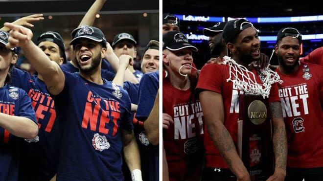 Final Four Betting Odds - South Carolina Gamecocks vs. Gonzaga Bulldogs