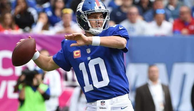 Eli Manning Passing interceptions Lead 2017