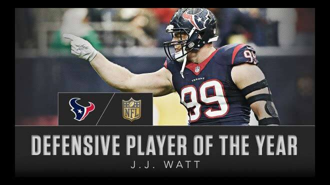 J. J. Watt Favorite for 2017 Defensive Player of the Year Award at US Sportsbooks