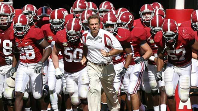 Alabama Massive College Football Odds Betting Favorites vs. Tennessee