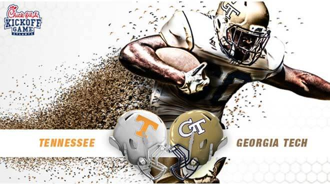 Georgia Tech Yellow Jackets vs. Tennessee Volunteers Betting Lines and Game Prediction