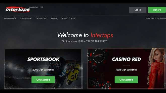Intertops Sportsbook reviewed and Ratings by BestOnlineSportsbooks experts