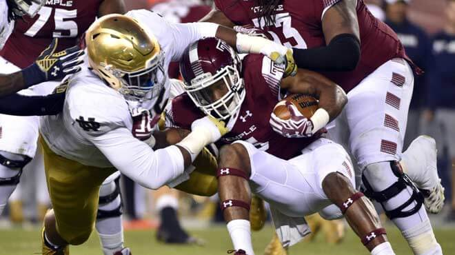 Temple Owls vs. Notre Dame Fighting Irish Betting Odds and Analysis – Saturday, Sept. 2nd