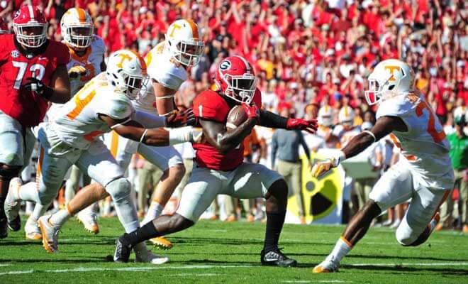 Georgia Bulldogs vs. Tennessee Volunteers Odds, Stats and Free Picks