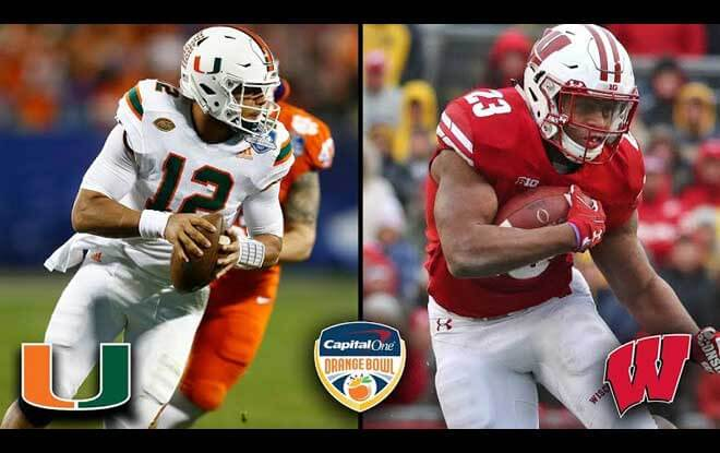 2017 Orange Bowl Picks – Wisconsin Badgers vs. Miami Hurricanes Picks, Odds and Betting Trends
