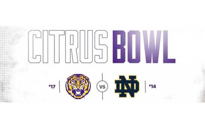 LSU Tigers vs Notre Dame Fighting Irish 2018 Citrus Bowl Predictions and Betting Odds