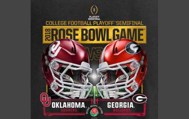 2018 Rose Bowl Picks, Oklahoma Sooners vs. Georgia Bulldogs Betting Odds