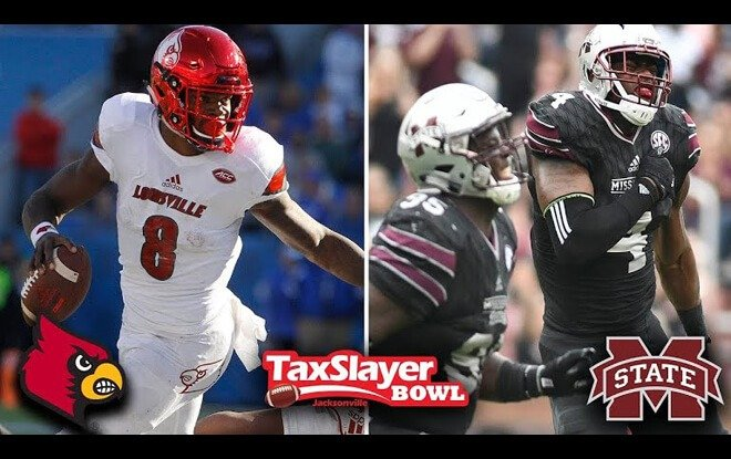 2017 TaxSlayer Bowl Odds and Picks - Louisville Cardinals vs. Mississippi State Bulldogs