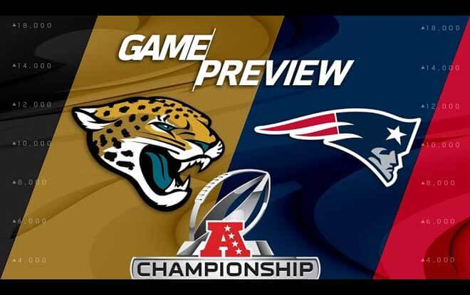 AFC Championship Latest Odds at US Sportsbooks for Jacksonville Jaguars vs. New England Patriots