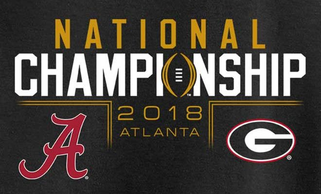 Alabama vs georgia ncaa playoff national championship live Alabama sec championship shirt