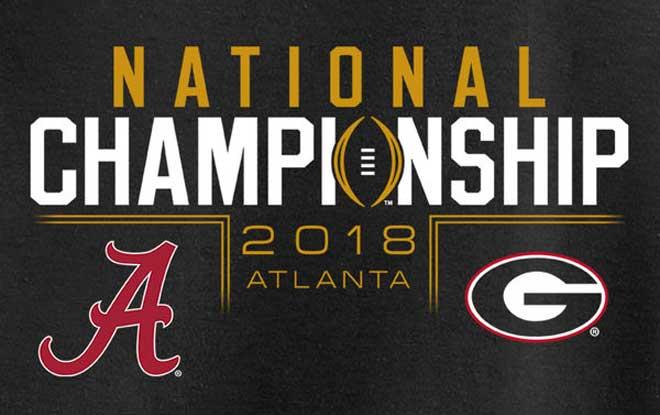 College Football Championship Game Odds Alabama Crimson Tide vs. Georgia Bulldogs