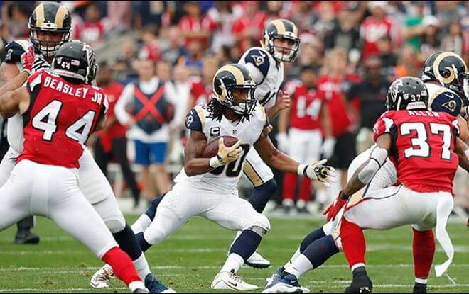 NFC Wild Car Betting Game Odds Los Angeles Rams vs. Atlanta Falcons