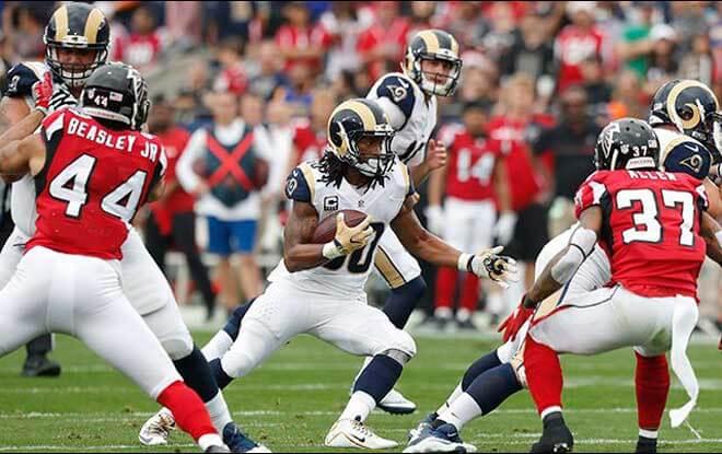 NFC Wild Car Betting Game Odds Los Angeles Rams vs. Atlanta Falcons