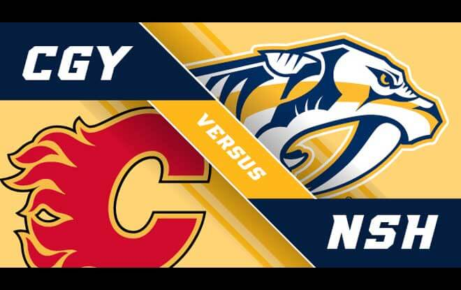 Calgary Flames vs. Nashville Predators Latest Odds and Game Prediction - Thursday February 15, 2018