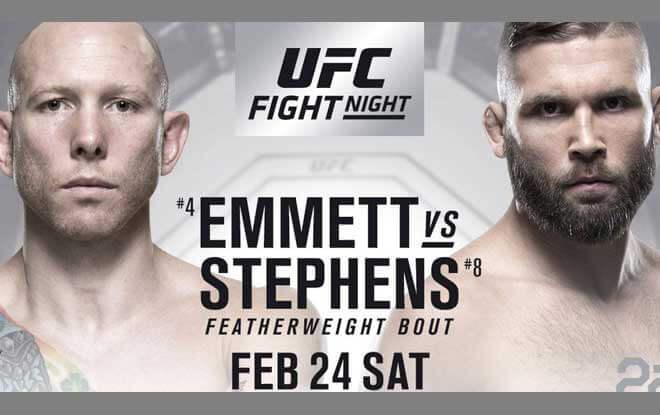UFC on Fox 20 Latest Odds - Stephens vs. Emmett