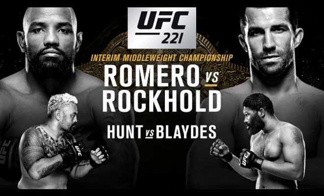 Resultado de imagen para UFC 221 romero vs rockhold