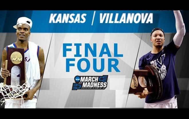 #1 Kansas Jayhawks vs. #1 Villanova Wildcats Final Four Expert Predictions, odds and betting trends
