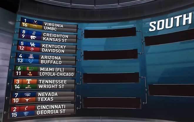 2018 NCAA Basketball Tournament South Regional Odds and Picks