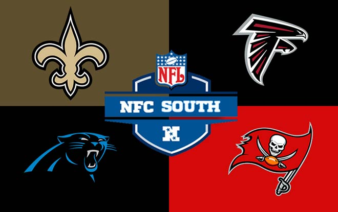 NFC South Division 2018 - 2019 winner odds from top online betting sites