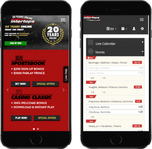 Intertops Sportsbook - Sports betting apps for US Players