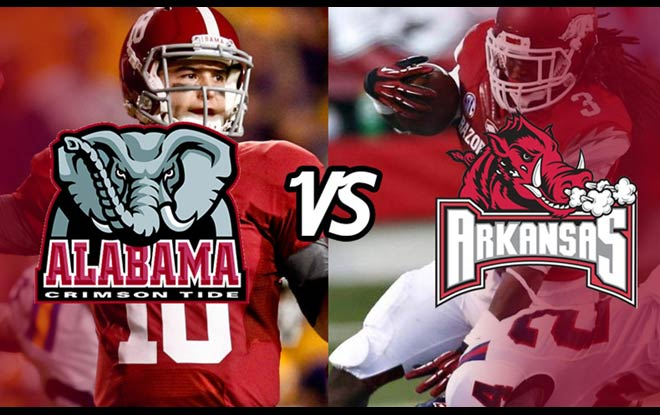 Alabama Crimson Tide vs. Arkansas Razorbacks Latest Odds and Picks
