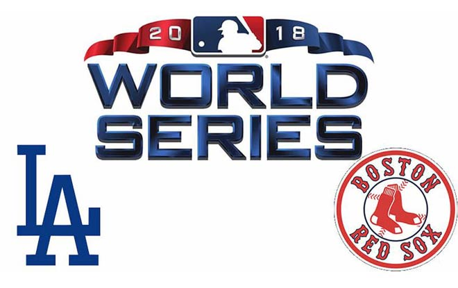 Los Angeles Dodgers at Boston Red Sox Baseball 2018 World Series Betting