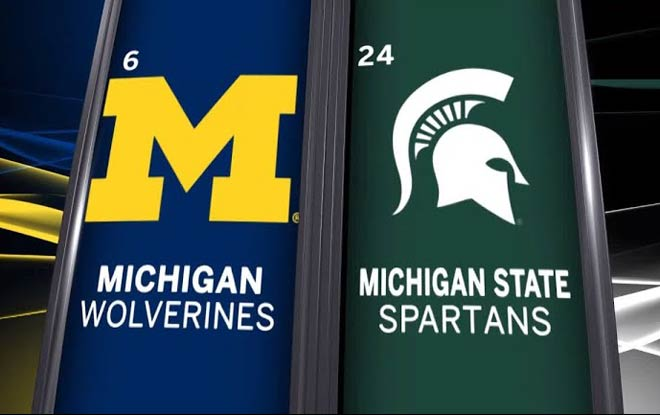 Legal Betting Sites favor Michigan Wolverines vs Michigan State Spartans