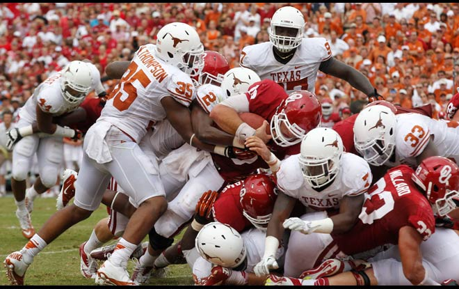 Oklahoma Sooners at Texas Longhorns NCAA Football Betting Odds & Preview