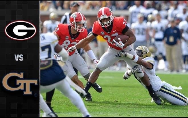 Georgia Tech Yellow Jackets vs. Georgia Bulldogs Latest Odds and betting predictions