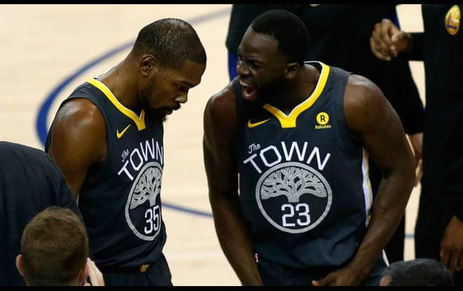 Kevin Durant-Draymond Green fighting