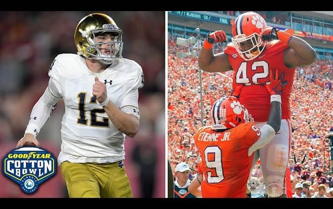 2018 Goodyear Cotton Bowl - CFP Semifinal Predictions and Odds - Notre Dame Fighting Irish vs. Clemson Tigers