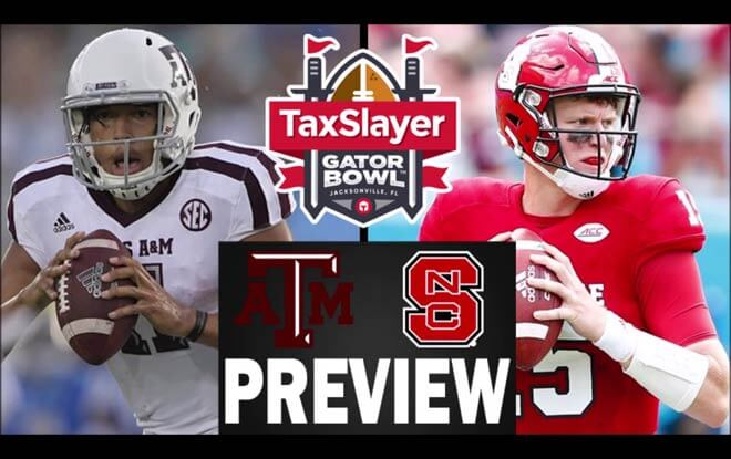 2018 Gator Bowl betting odds and predictions - Texas A&M Aggies vs. NC State Wolfpack