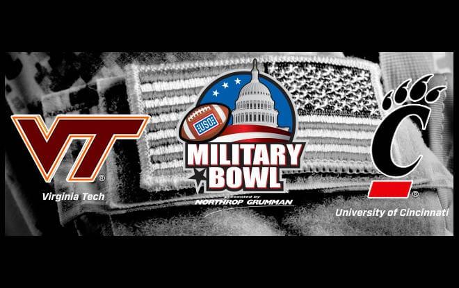 Virginia Tech Hokies vs. Cincinnati Bearcats -2018 Military Bowl Betting Predictions and Odds