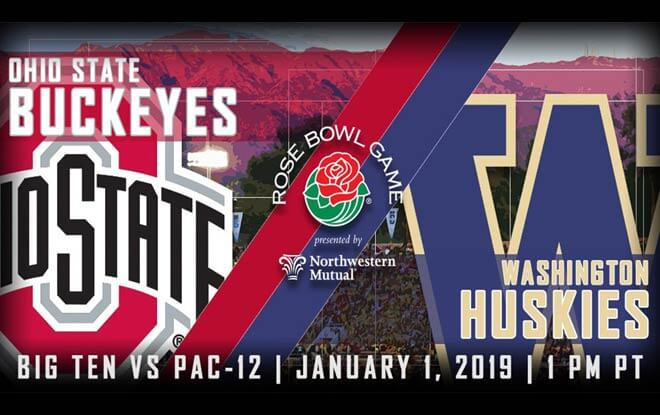 Washington Huskies vs. Ohio State Buckeyes - 2019 Rose Bowl Betting Odds and Picks