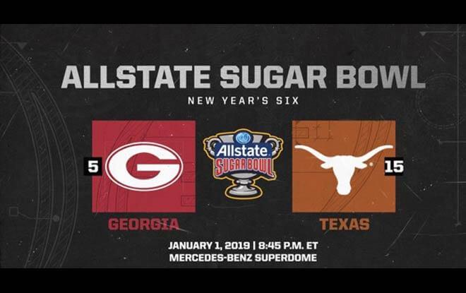 2019 Allstate Sugar Bowl Betting Line and Predictions - Texas Longhorns vs. Georgia Bulldogs
