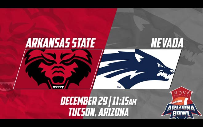 Arkansas State Red Wolves vs. Nevada Wolf Pack Arizona Bowl Betting