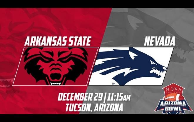 2018 Arizona Bowl Betting - Arkansas State Red Wolves vs. Nevada Wolf Pack