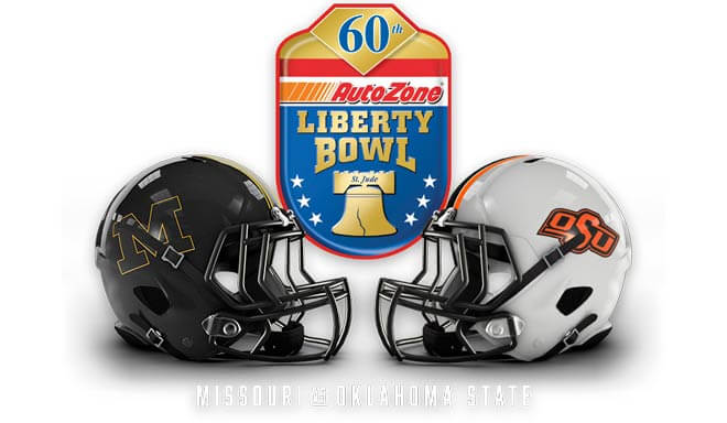 2018 AutoZone Liberty Bowl betting predictions and Odds - Missouri Tigers vs. Oklahoma State Cowboys